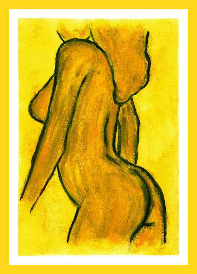 Yellow nude :  21x29 cm Private collection