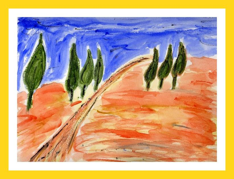 Tuscany road 32x24 cm Available 50 €