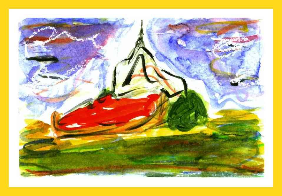 aquarelle monument france 10x13 cm 50 €